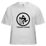 Funny Offensive T-shirts : Trash Zone